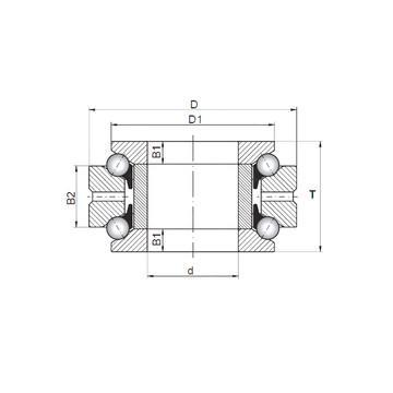 53307U+U307 ISO Rolamentos axiais de esferas
