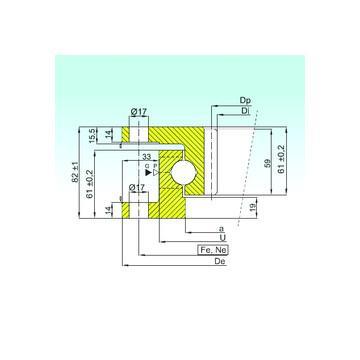 51114 NSK Rolamentos axiais de esferas