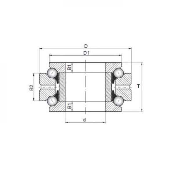 ZK.22.1100.100-1SPPN ISB Rolamentos axiais de esferas